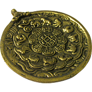 "Auspicious Chinese Zodiac Brass(?) Medallion-Paperweight-Collectible, 3"""