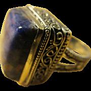 Royal Blue Sodalite Gemstone Finger Ring, Size 9