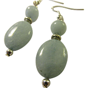 """Blue Aquamarine Gemstone Pierced Earring, 2"""""""