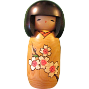 Japanese Sakura Cherry Blossom Girl Kokeshi Ningyo Doll