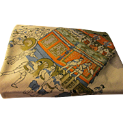 Japanese Cotton Tablecloth-Scarf of Kyoto Float Festival, 40""