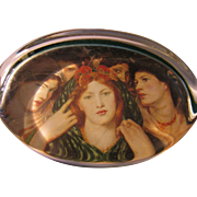 "Rossetti's Painting ""The Beloved"" Glass Paperweight"
