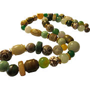 Jade and Multi-Gemstone Bead Necklace, 28""