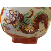 Golden Vermillion Ceramic Dragon and Phoenix Serving Bowls, Set of 3 - Red Tag Sale Item