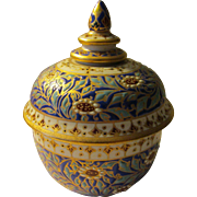 Hand Painted Raised Relief Siamese Two-Piece Keepsake Jar, 3 1/2""