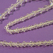 Vintage Art Deco Crystal Bi-Cone Beaded Choker with Silver Clasp