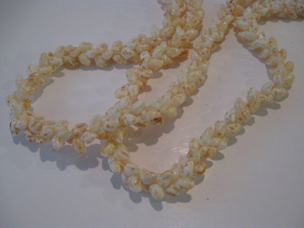 Vintage Rare Niihau Shell Pikake Style Necklace Lei