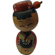 Japanese Kokeshi Bobbing Head Girl Doll