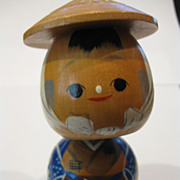 Vintage Japanese Boy Kokeshi Doll