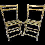 """Folding """"paire de chaise de jardins"""""""