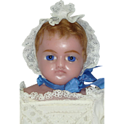 "Pretty 18"" English Poured Wax Baby from Hamleys in London"