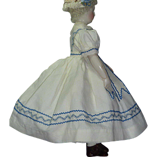 Pique 1860's Dress with Cape, Mode Enfantine such as Rohmer