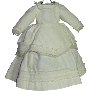 1860's White Pique Dress