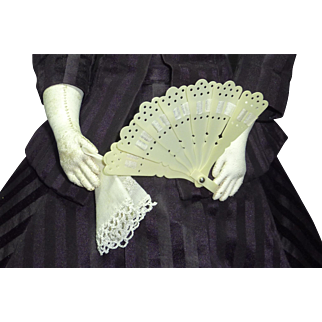 French Fashion's Fan and Handkerchief