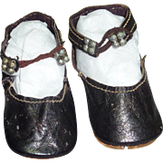 """Bebe Shoes with Ankle Closure, 2 1/2"""" x 1"""""""