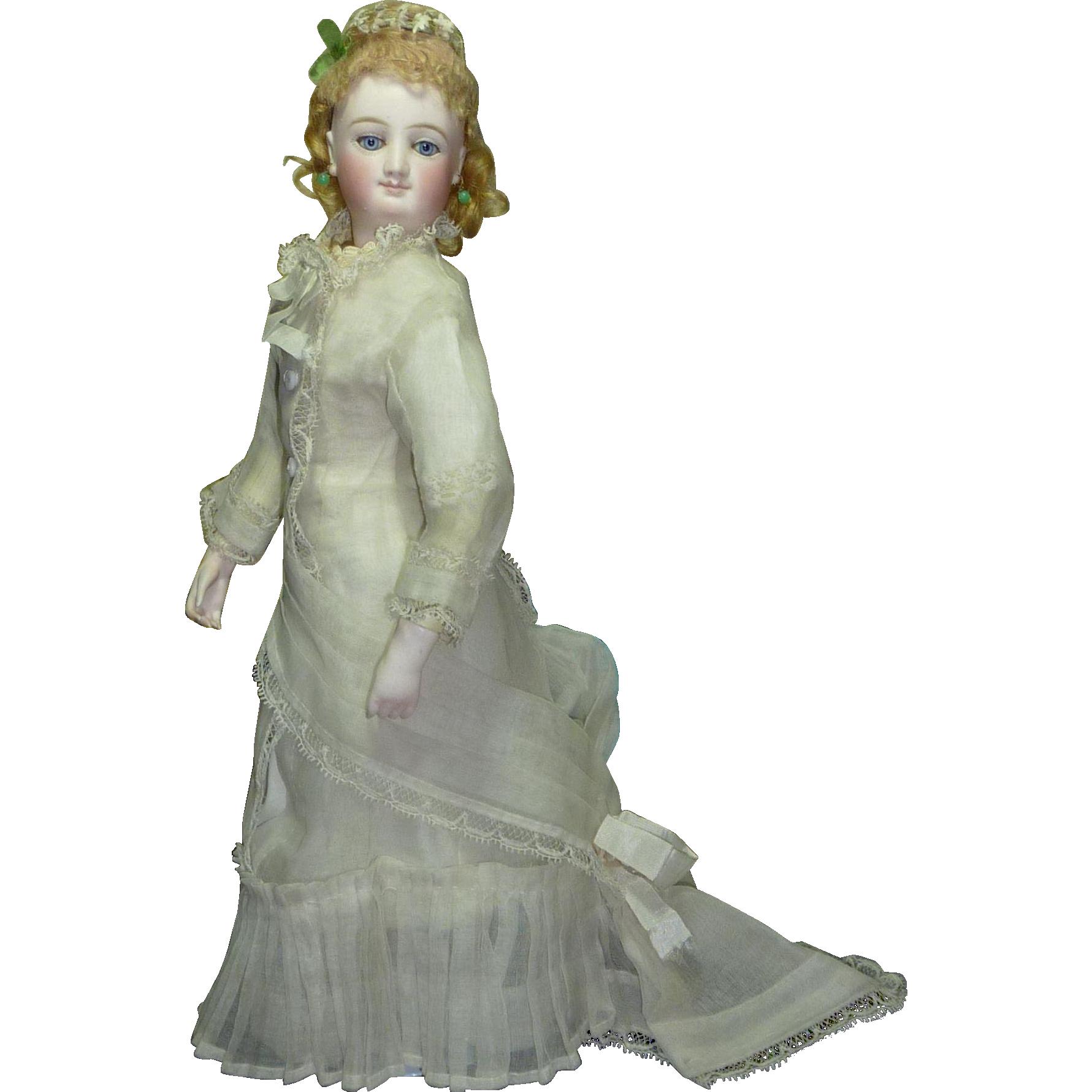 """ANTIQUE ca. 1870, 14"""" BRU French Fashion Doll"""
