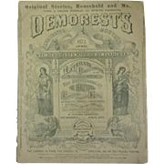 April 1873 Demorest's Monthly Magazine, Mirror of Fashions