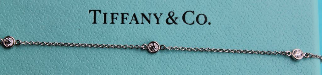 Platinum & Diamond Tiffany & Co Diamonds By The Yard Bracelet