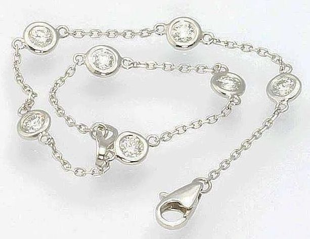 1 05 Carat Tw Diamonds by the Yard 14k White Gold Bracelet Estate