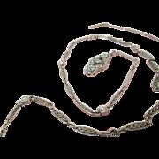 Platinum Belle Epoque Edwardian .85 Carat Diamond By The Yard Necklace With Diamond Clasp
