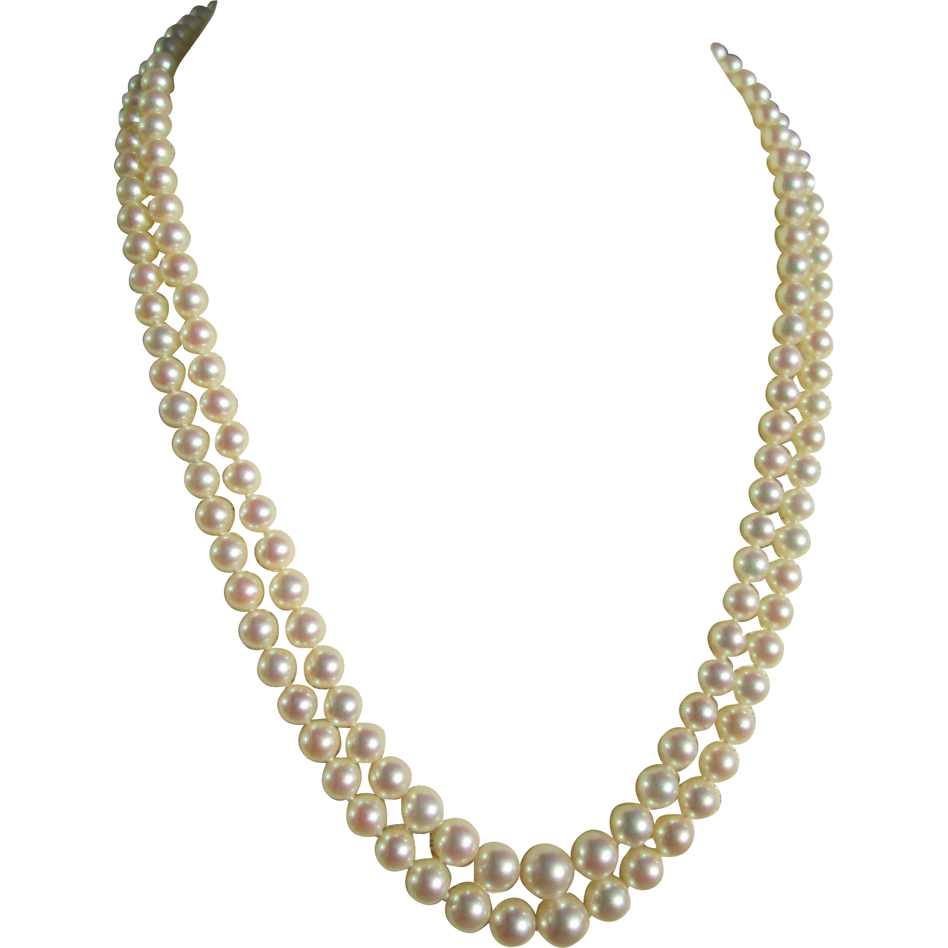 Mikimoto Double Strand Princess Length Cultured Pearl