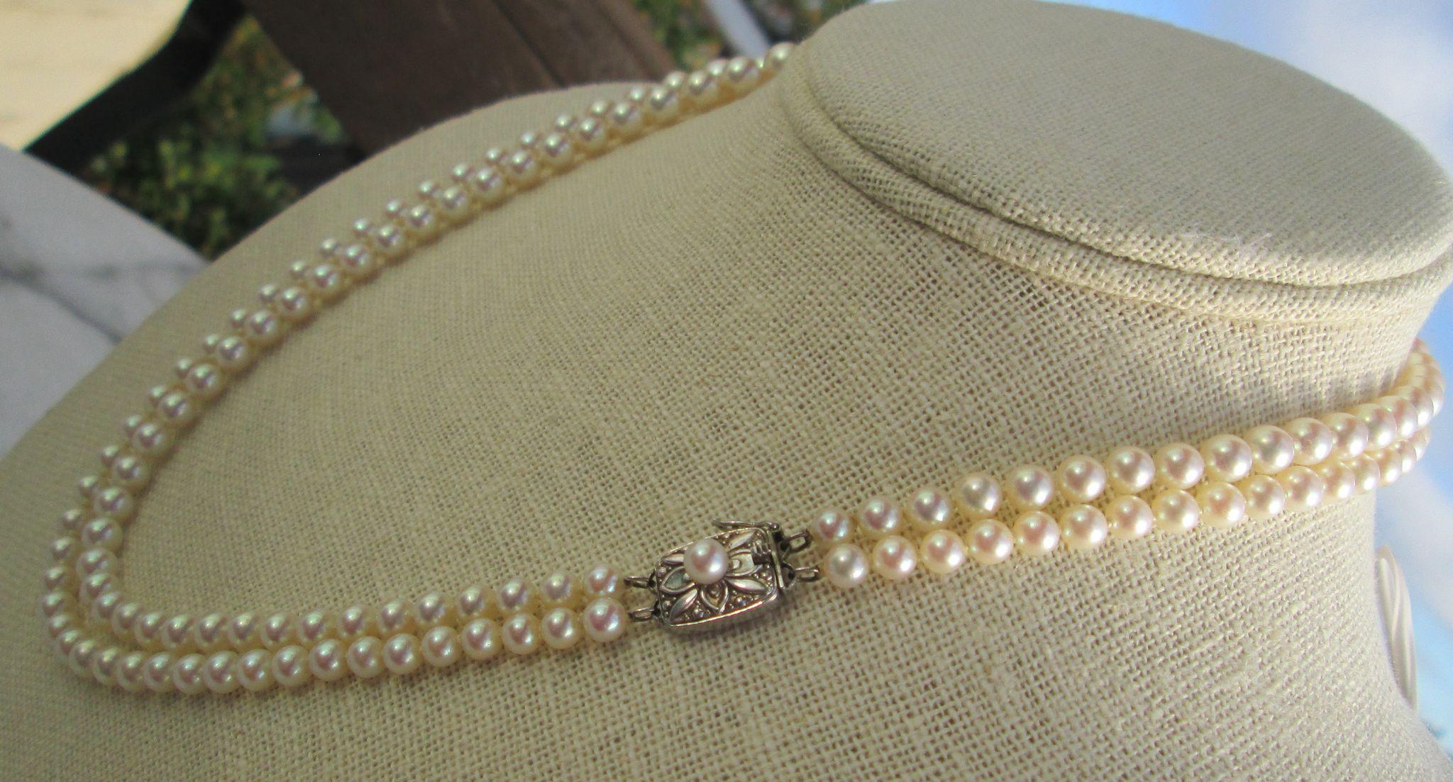 Mikimoto Double Strand Princess Length Cultured Pearl