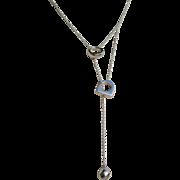 Fred Of Paris Joaillier 18K Necklace Retired Vintage Estate Lariat Pendant