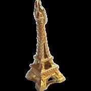 14K Gold Eiffel Tower Charm Vintage Estate