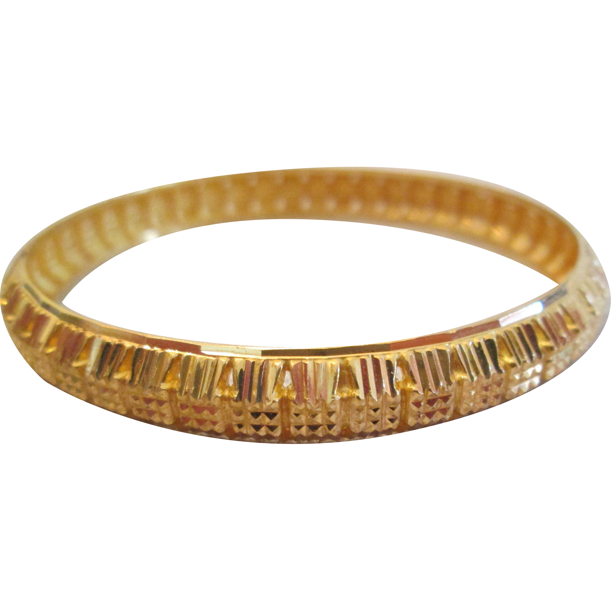 yellow bangles gold diamond bangle ruby round img in bracelet vintage