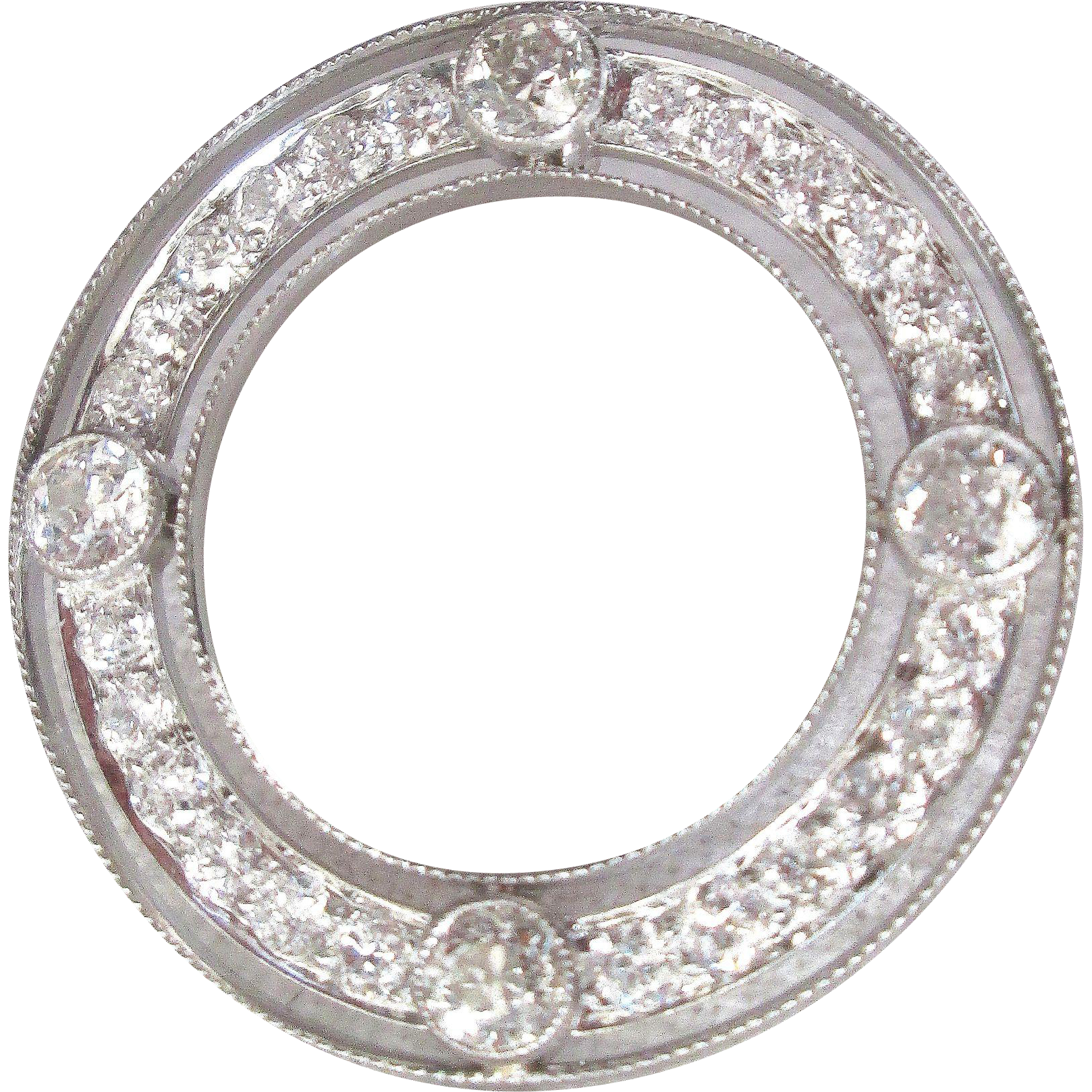 Art Deco 4 Carat Diamond Amp Platinum Circle Brooch
