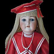 "30"" Tall Kammer * Rheinhardt German Child Doll Dressed Human Hair wig Museum Quality"