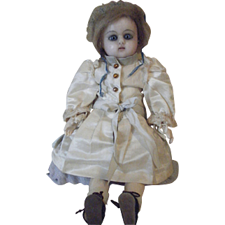 Extremely RARE Wax Head French Steiner  Doll on original Eight Ball Body
