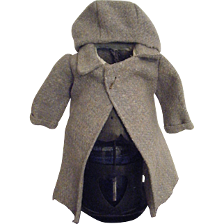Vintage Wool Doll Coat and Hat