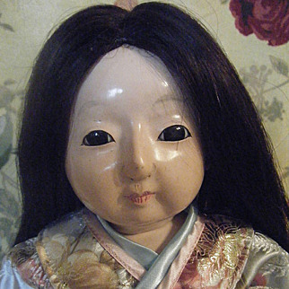 "Ichimatsu Doll 17 1/2"" and Bisque Head Japan Doll"
