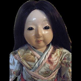 "Ichimatsu Doll 17 1/2"" and Bisque Head Japan Doll"