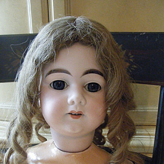 Antique A. M. DEP Doll  made for French market Bisque Head
