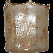 French ACB Cameo glass vase bowl St Denis Legras,