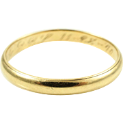 1940s Vintage Retro Wedding Band in 14K Yellow Gold