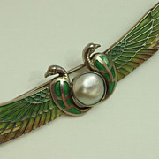 Victorian Egyptian Revival Brooch