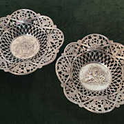 Pair of Vintage Sterling Silver Baskets