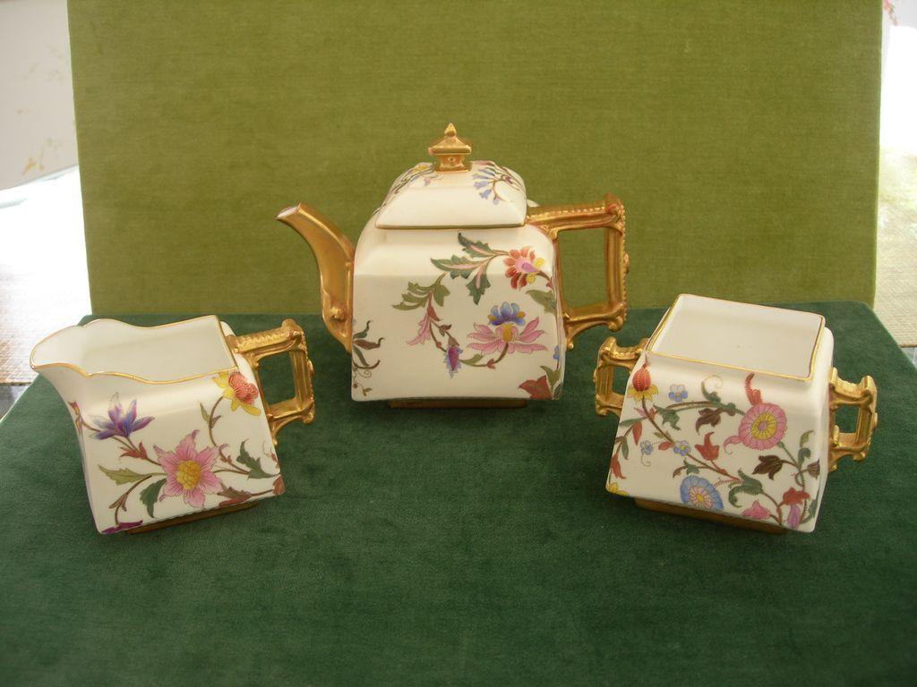Victorian Porcelain Royal Worcester Tea Set