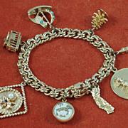 Vintage Gold Charm Bracelet