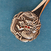 19th Century Silver Chinese Tongs