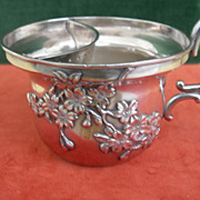 Late Victorian Japanese Silver Shaving Cup
