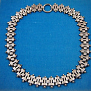 Victorian Sterling Silver Link Necklace