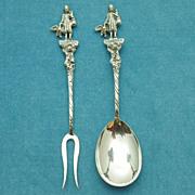 Vintage Sterling Silver German Spoon and Fork Set