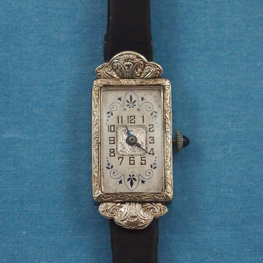 vintage art deco ladies 39 wristwatch from. Black Bedroom Furniture Sets. Home Design Ideas