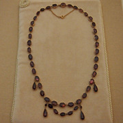 Georgian Rhodolite Garnet Necklace