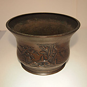 Vintage Japanese Bronze Pot