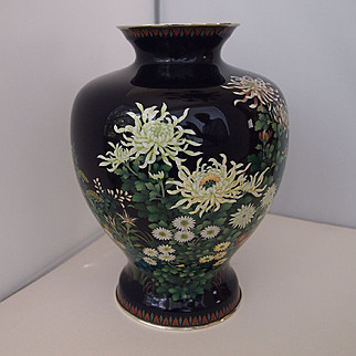 Vintage Japanese Cloisonne Vase by Ando